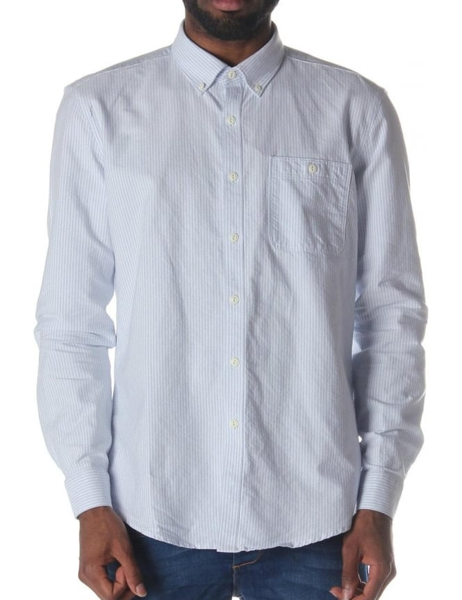 Barbour Rickson Men's Slim Fit Shirt Sky Blue