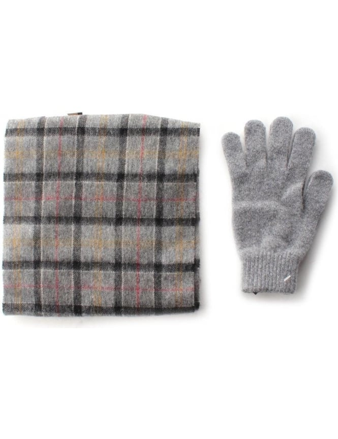 Barbour Scarf & Glove Men's Gift Box