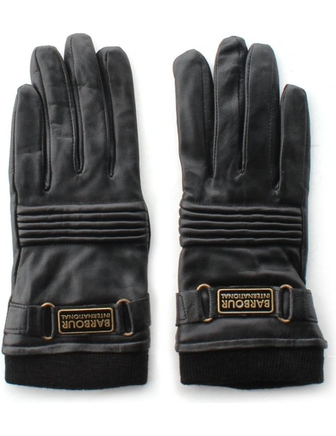 Barbour Stainforth Women's Leather Glove Black