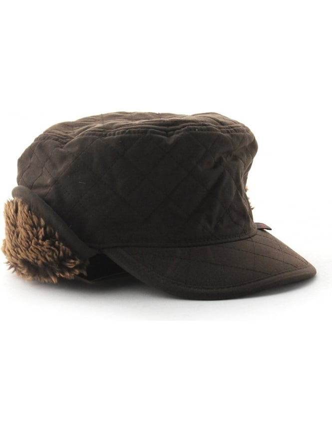 Barbour Stanhope Men s Waxed Hunting Cap Olive ca852177079