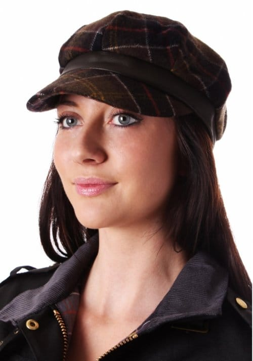 Barbour Tartan Wool Baker Boy Women s Hat Olive - Women from Diffusion UK b3e5623fb05