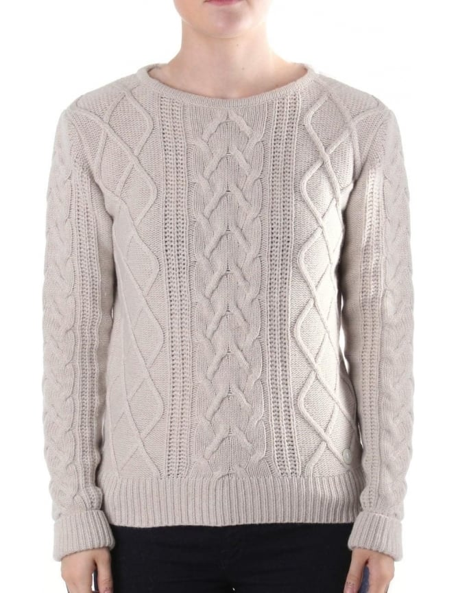 Barbour Tidewater Women's Cable knit Jumper