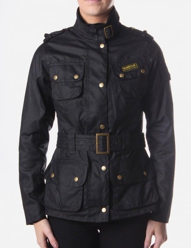 Barbour Union Jack Women S Waxed Jacket Black