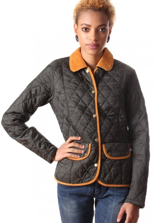 Vintage Quilted Women S Jacket Burnt Orange