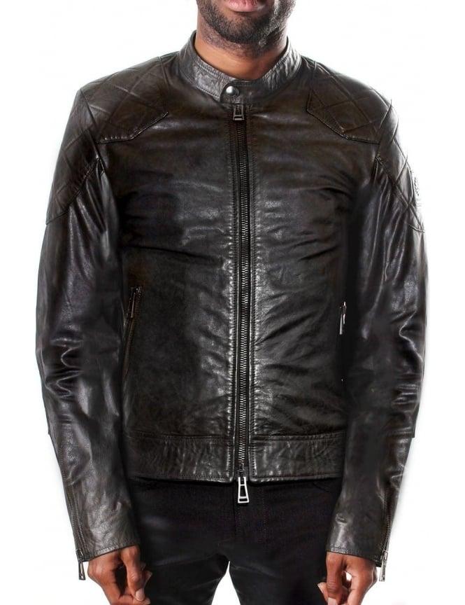 4bd3168b247f Belstaff The Outlaw Men s Leather Jacket Black