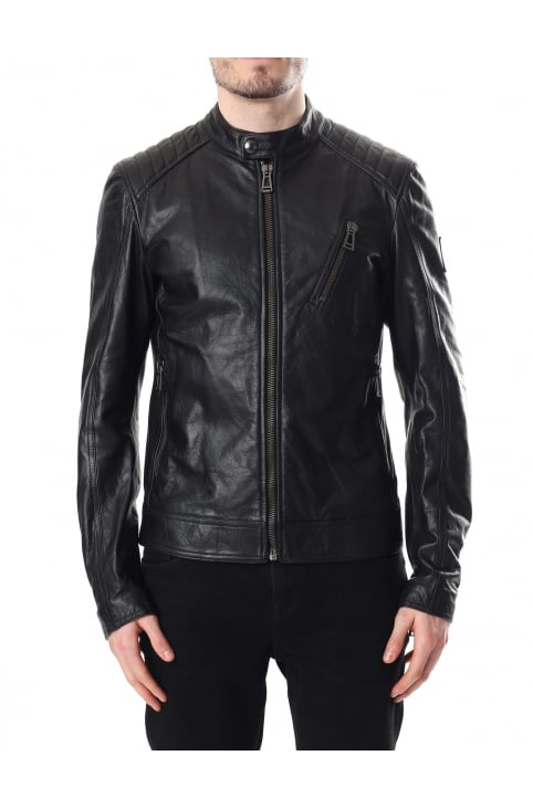 V-Racer Men's Leather Blouson Jacket