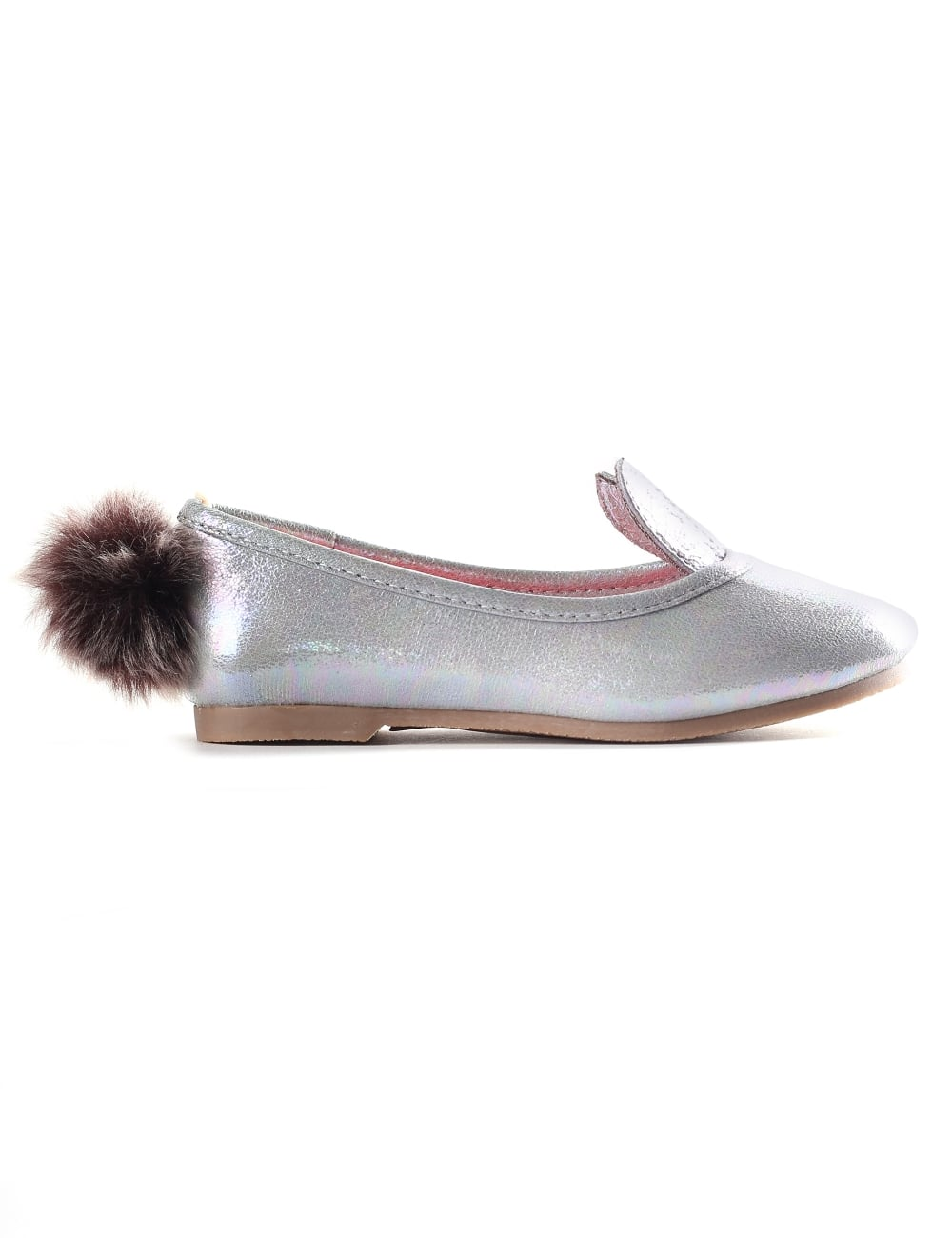 Flat Shoes Rabbit With Pom Tail