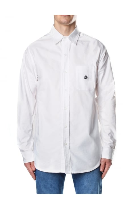 Helmet Men's Long Sleeve Oxford Shirt