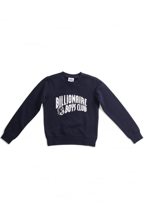 Logo Arch Boys Crew Neck Sweat Top