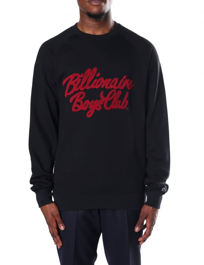 Billionaire Boys Club Men's Chenille Script Crew Neck Sweat Top