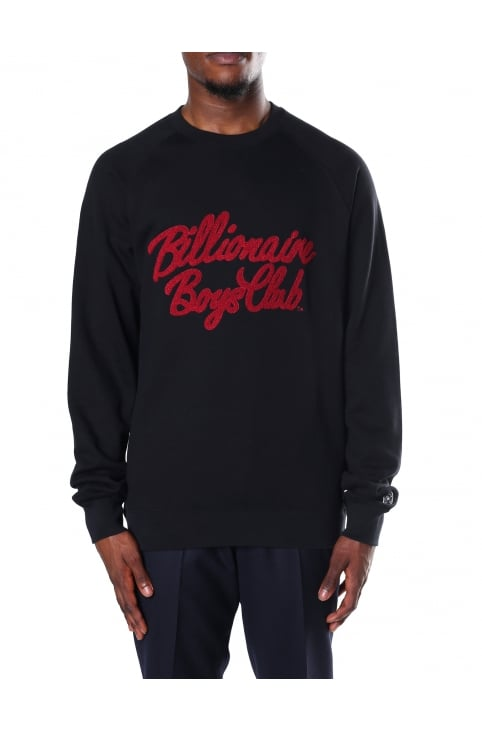 Men's Chenille Script Crew Neck Sweat Top
