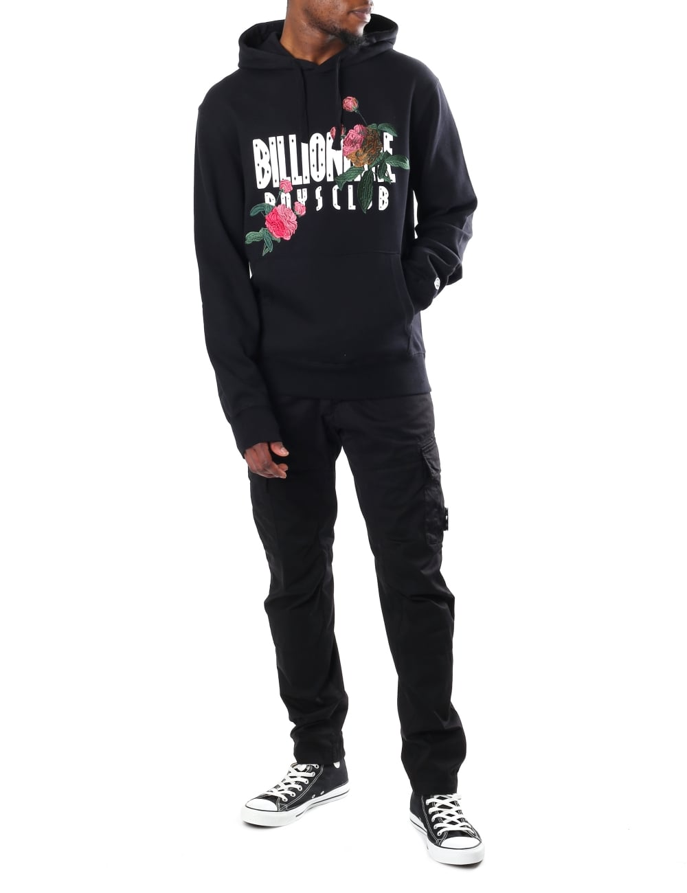 Billionaire Boys Club Mens Embroidered Floral Popover Hoodie