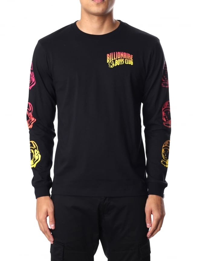 Billionaire Boys Club Men's Gradient Helmet Print Long Sleeve T-Shirt