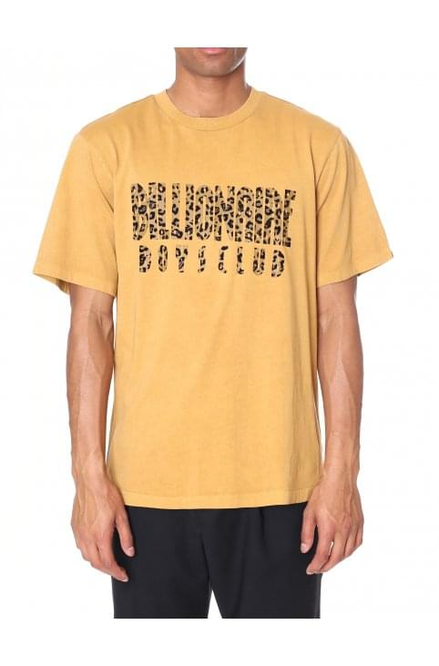 Men's Leopard Fill Straight Logo Tee