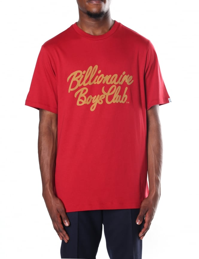 Billionaire Boys Club Men's Lock Script Logo Tee