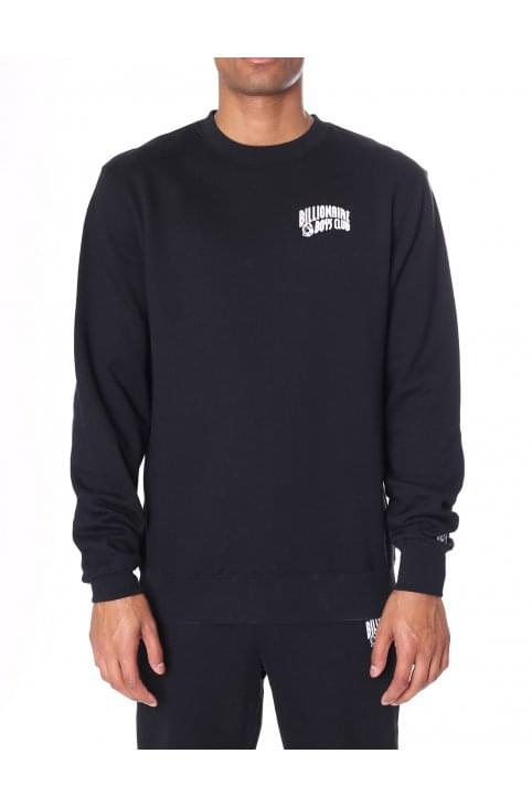 Men's Small Arch Logo Crew Neck Sweat Top