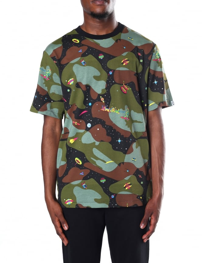 Billionaire Boys Club Men's Space Camo All Over Print Tee