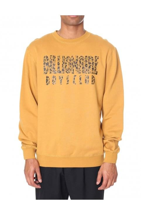 Men's Straight Logo Reversible Crew Neck Sweat Top