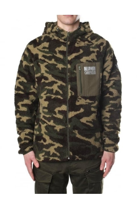 Sherpa Camo Men's Zip Through Hooded Fleece