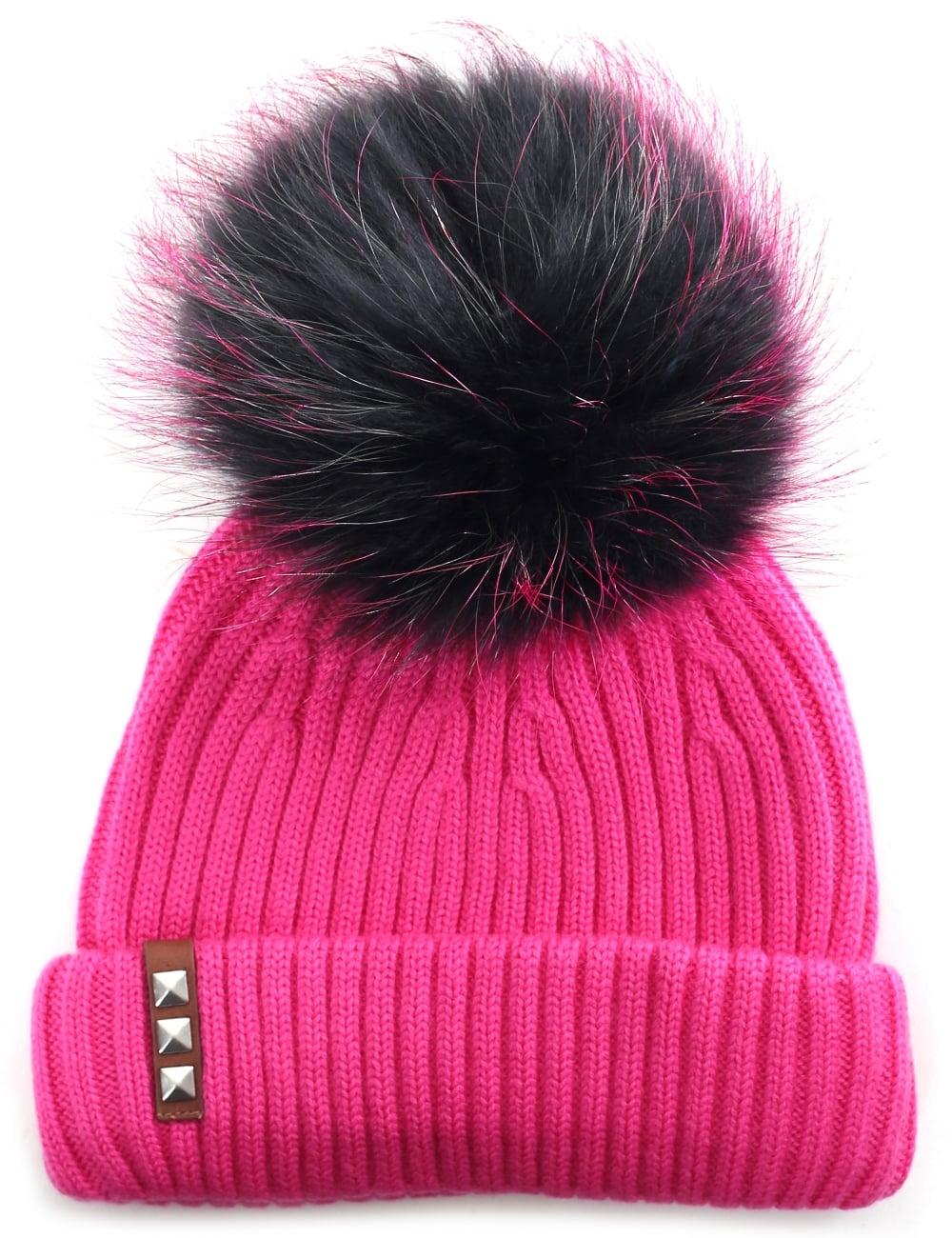 BKLYN Women s Fur Bobble Hat 098b666950