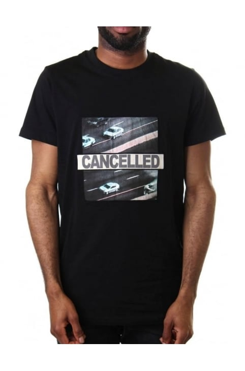 Cancelled Statement Logo Men's Short Sleeve Tee Black