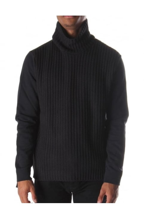 Warfare Men's Roll Neck Knit Black