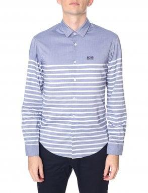 Men s Placement Stripes Slim Fit Long Sleeve Shirt. Boss Athleisure ... f4790b6f2c7
