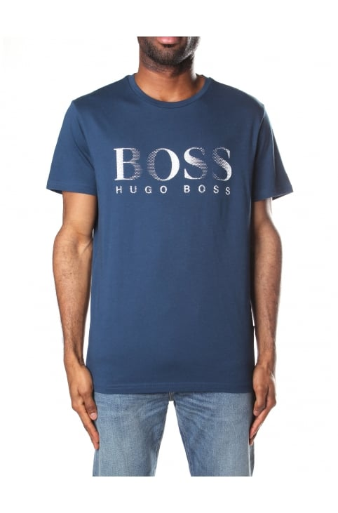 Crew Neck Men's Short Sleeve T-Shirt Navy