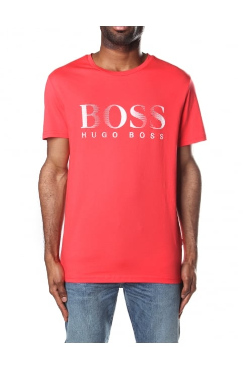 Crew Neck Men's Short Sleeve T-Shirt Bright Red