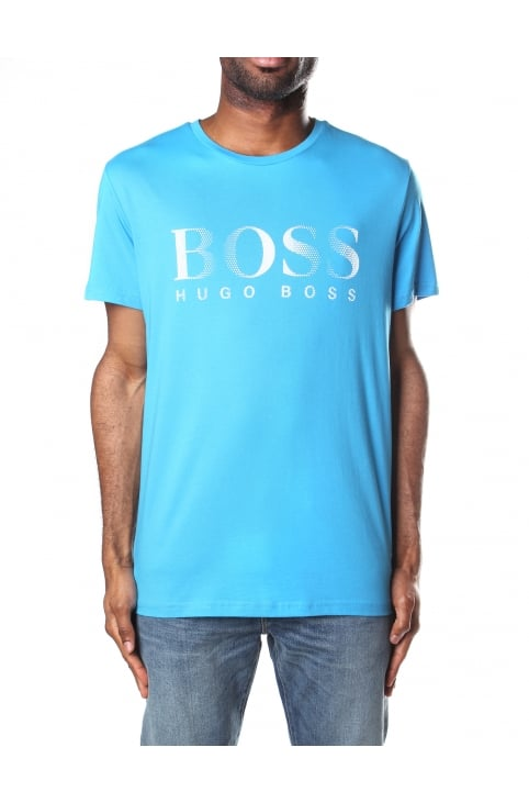Crew Neck Men's Short Sleeve T-Shirt Light/Pastel Blue