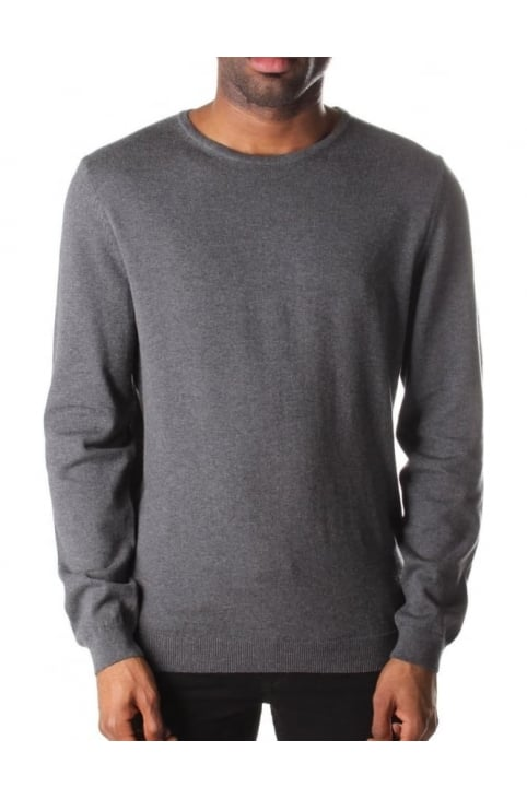 Men's Fines Slim Fit Crew Neck Pullover Knit
