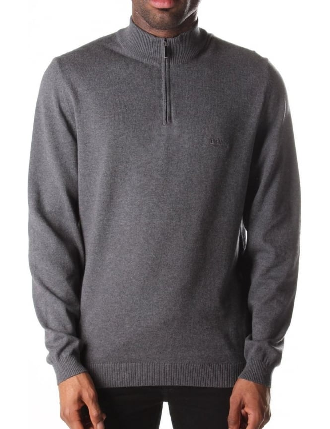 Boss Black Men's Igor Regular Fit Zip Neck Pullover Knit