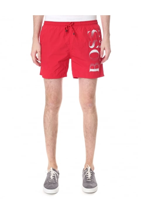 Men's Logo Print Swim Shorts