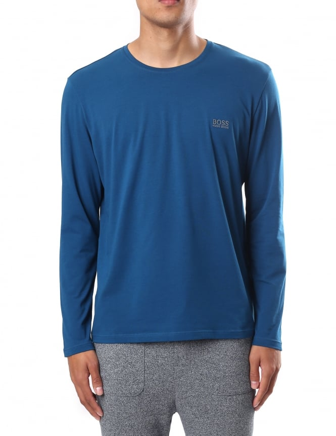 Boss Black Men's Regular Fit Crew Neck Long Sleeve Tee