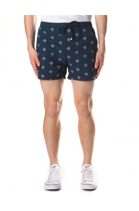 Men's White Shark Quick Dry Swim Shorts