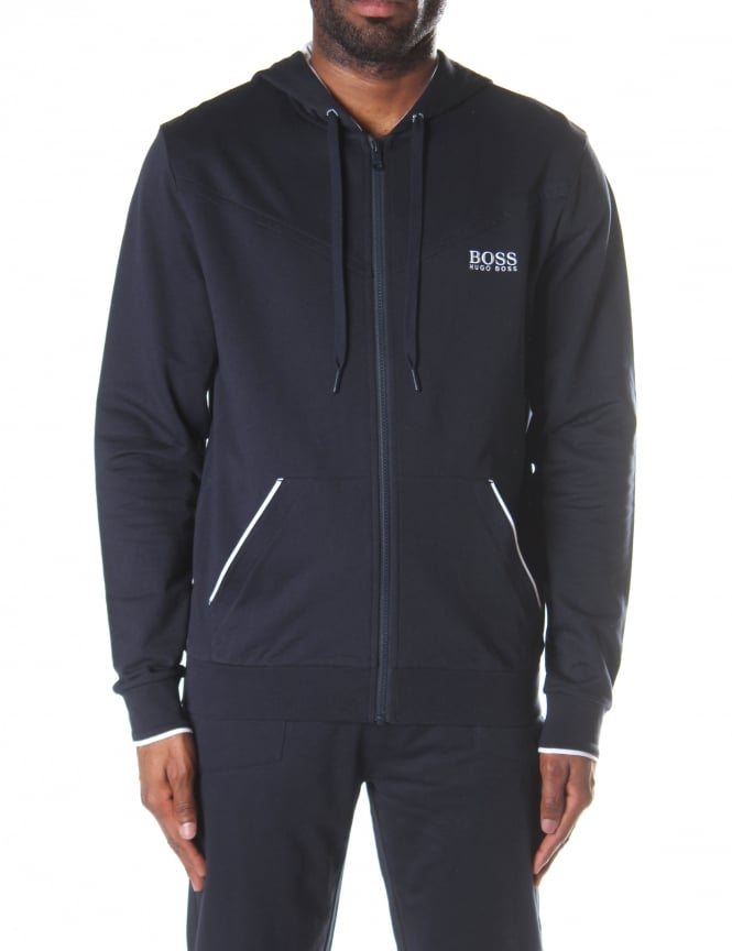 Boss Black Men's Zip Through Hooded Sweat Top