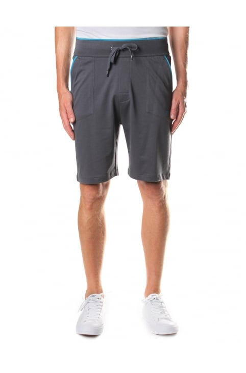 Piped Detail Men's Tie Waist Shorts