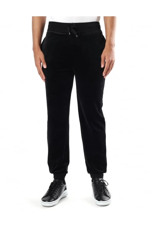 Velour Men's Tie Waist Sweat Pants