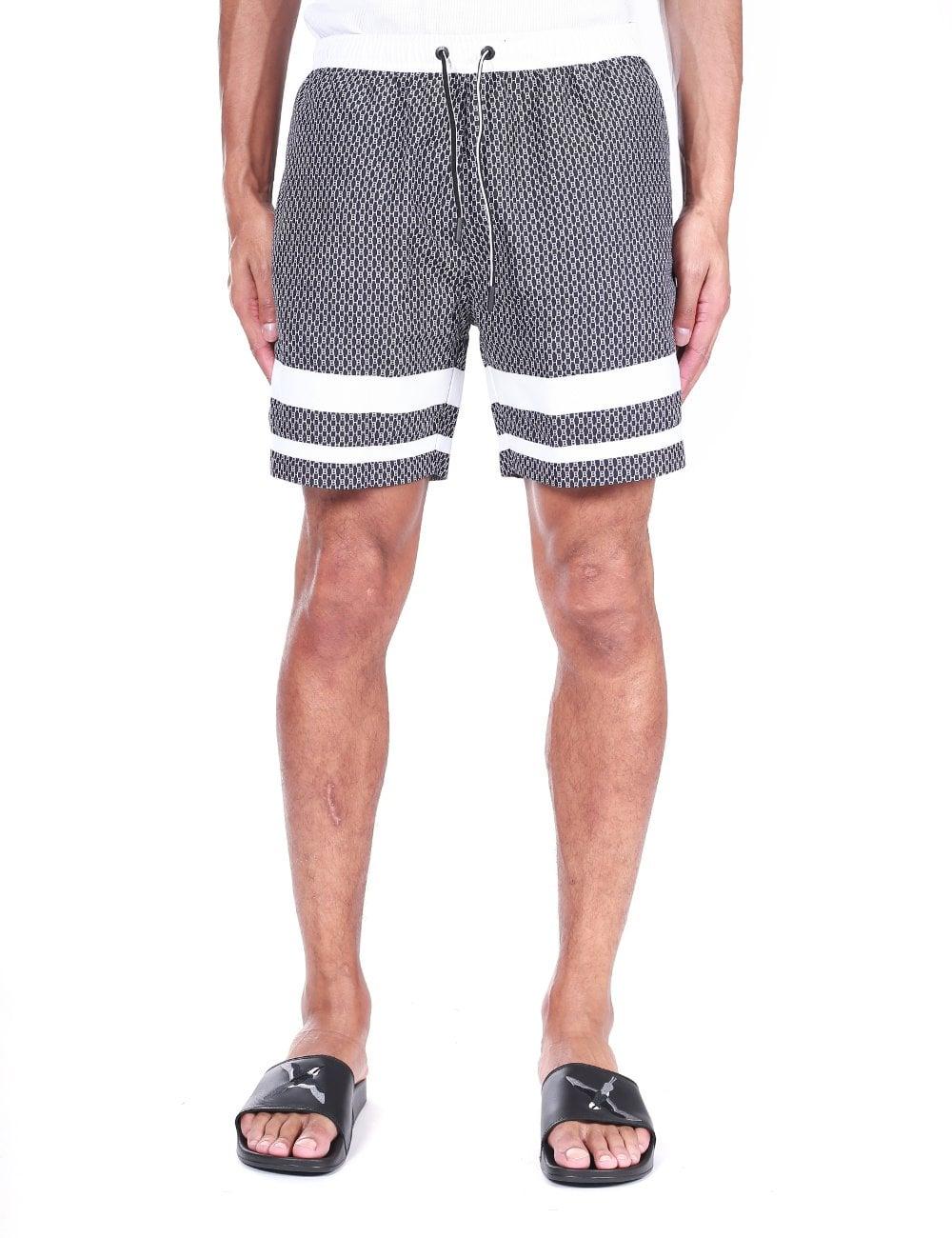 39b5c8a35816 Men's All-Over Monogram Print Quick-Dry Swim Shorts