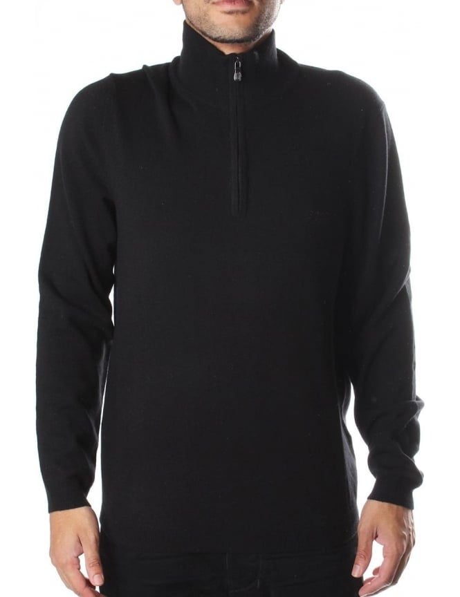Boss Green C-Ceno Regular Fit Men's Zip Neck Knit