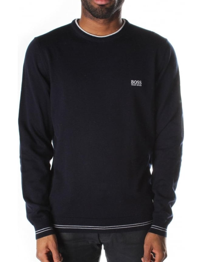 Boss Green Crew Neck Men's Pullover Knit