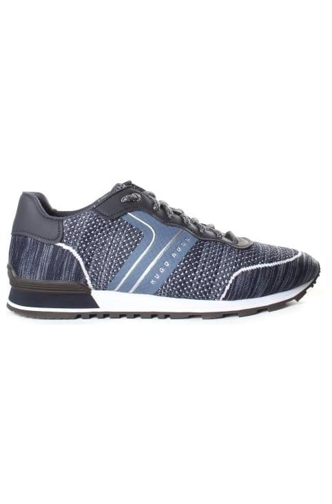 Men's Parkour Runner Knit Trainer Dark Blue