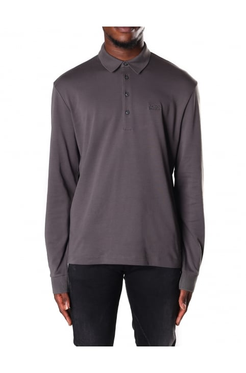 Men's Regular Fit Long Sleeve Polo Top