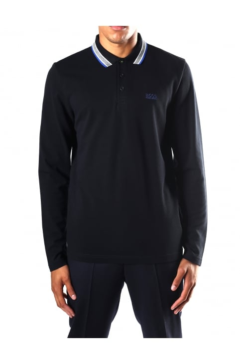 Plisy Men's Long Sleeve Polo Top
