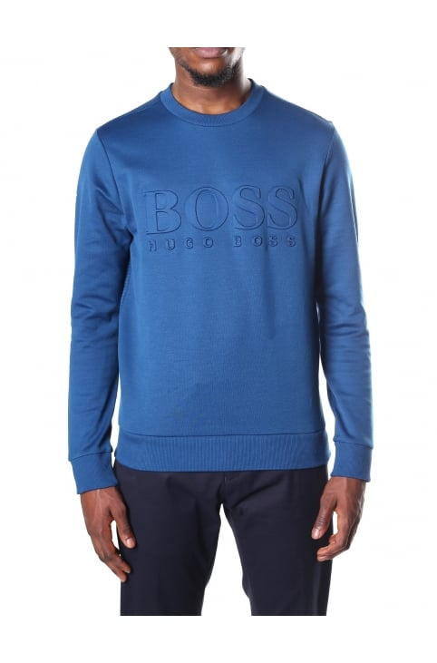 Salbo Embossed Men's Slim Fit Sweat Top
