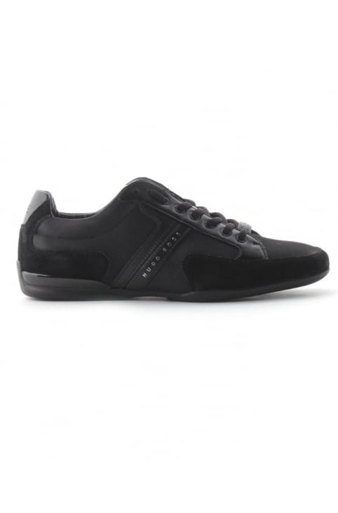 Spacit Men's Suede Detail Trainer Black