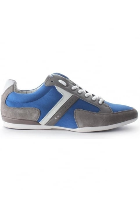 Spacit Men's Suede Detail Trainer Med Blue