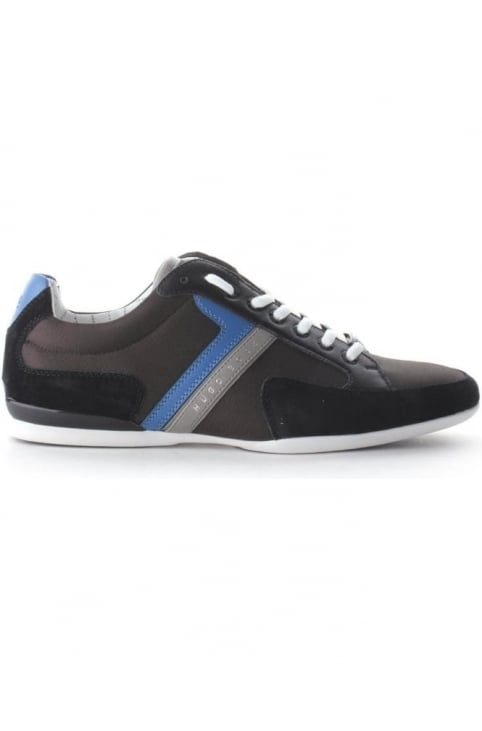 Spacit Men's Suede Detail Trainer Dark Grey