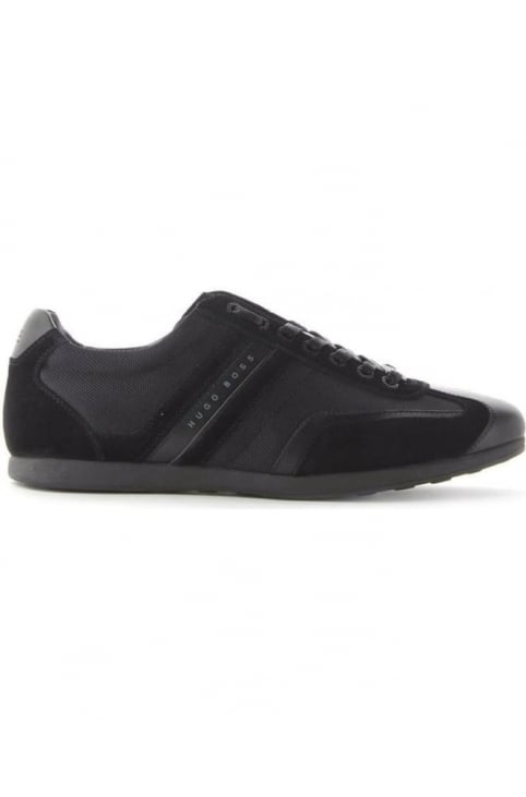Stiven Suede Detail Men's Trainers Black