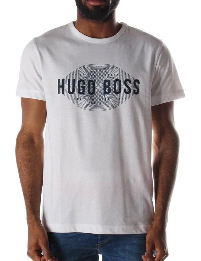 c60a6979 Boss Green Tee 1 Men's Logo Print T-Shirt Open White